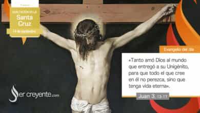Photo of Evangelio del día 14 septiembre 2021 (Exaltación de la Santa Cruz)