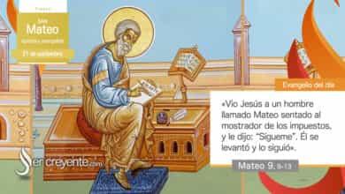 Photo of Evangelio del día 21 septiembre 2021 (San Mateo, apóstol y evangelista)