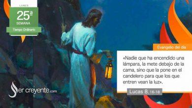 """Photo of Evangelio del día 20 septiembre 2021 (""""Nadie enciende una lámpara y la tapa"""")"""