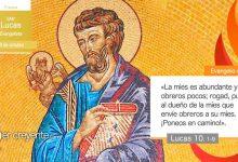 Photo of Evangelio del día 18 octubre 2021 (San Lucas, evangelista)