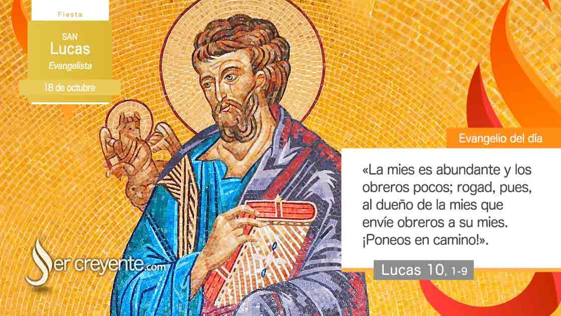 18 octubre San Lucas evangelista)