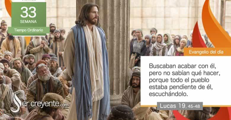 """Photo of Evangelio del día 20 noviembre 2020 (""""Jesús echó a los vendedores del templo"""")"""