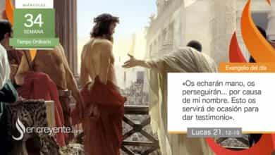 "Photo of Evangelio del día 25 noviembre 2020 (""Os echarán mano, os perseguirán"")"