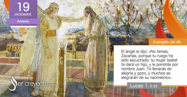"""Photo of Evangelio del día 19 diciembre 2020 (""""Te llenarás de alegría y gozo"""")"""