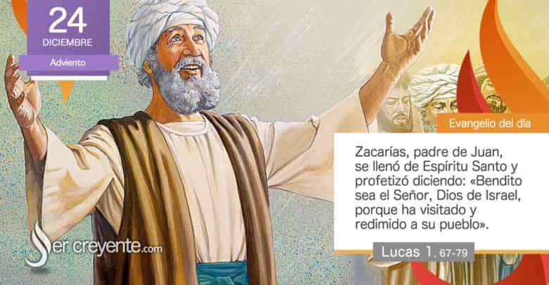 """Photo of Evangelio del día 24 diciembre 2020 (""""Zacarías se llenó de Espíritu Santo"""")"""