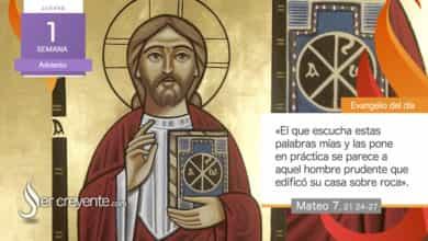 """Photo of Evangelio del día 3 diciembre 2020 (""""Un hombre prudente edificó su casa sobre roca"""")"""