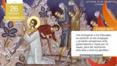 Photo of Evangelio del día 26 diciembre 2020 (San Esteban, protomártir)