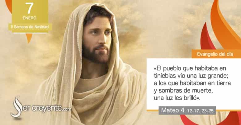 """Photo of Evangelio del día 7 enero 2021 (""""El pueblo en tinieblas vio una luz grande"""")"""