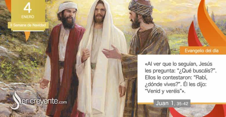 """Photo of Evangelio del día 4 enero 2021 (""""Maestro, ¿dónde vives? Venid y veréis"""")"""