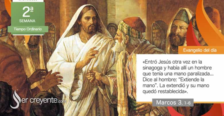 """Photo of Evangelio del día 20 enero 2021 (""""Había un hombre con la mano paralizada"""")"""