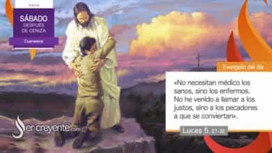 """Photo of Evangelio del día 20 febrero 2021 (""""No he venido a llamar a los justos, sino a los pecadores"""")"""