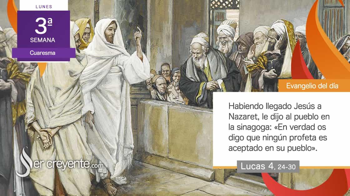 ningún profeta es aceptado en su pueblo