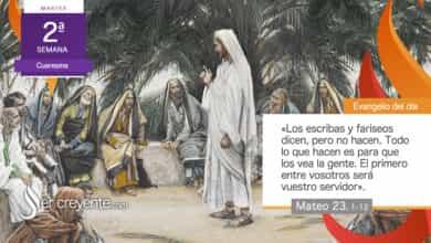 """Photo of Evangelio del día 2 marzo 2021 (""""Ellos dicen, pero no hacen"""")"""