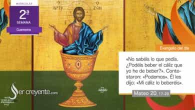 """Photo of Evangelio del día 3 marzo 2021 (""""¿Podéis beber el cáliz que yo he de beber?"""")"""