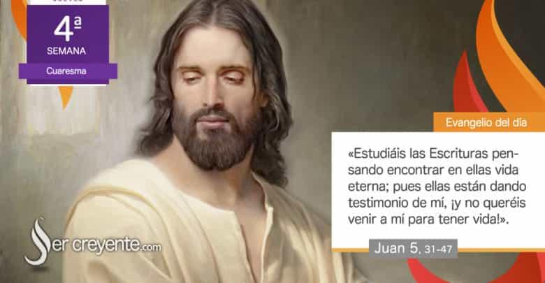 """Photo of Evangelio del día 18 marzo 2021 (""""¡No queréis venir a mí para tener vida!"""")"""