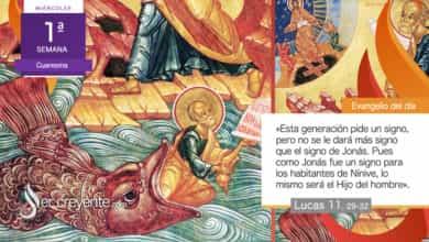 """Photo of Evangelio del día 24 febrero 2021 (""""Aquí hay uno que es más que Salomón"""")"""