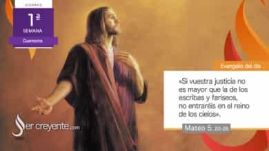 """Photo of Evangelio del día 26 febrero 2021 (""""Si vuestra justicia no es mayor…"""")"""