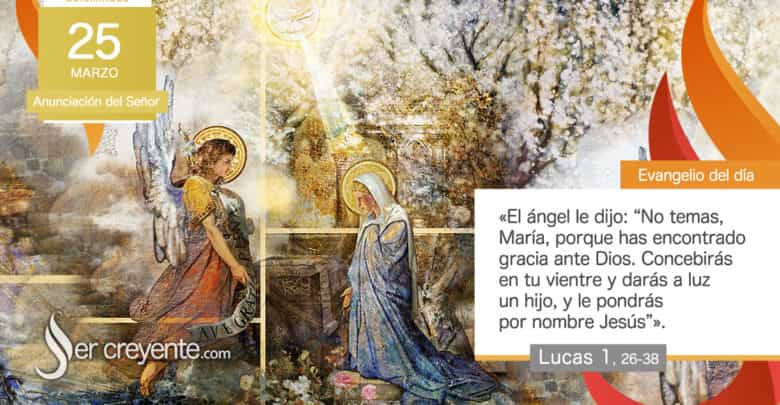Photo of Evangelio del día 25 marzo 2021 (Anunciación del Señor)