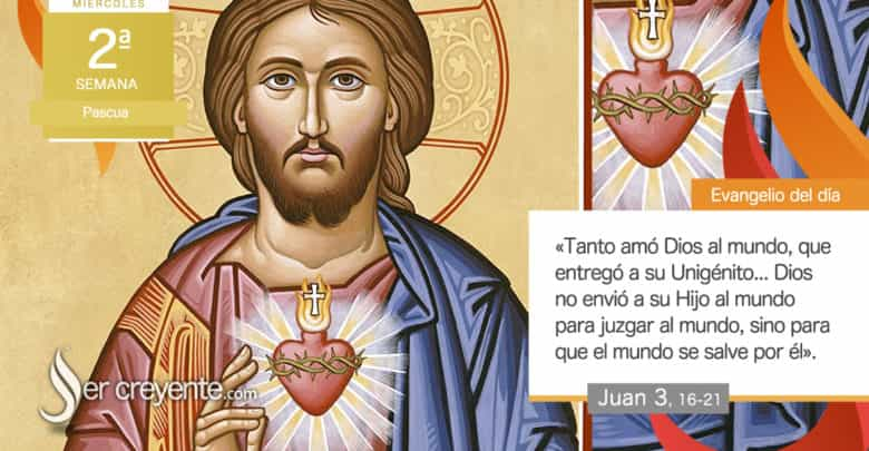 "Photo of Evangelio del día 14 abril 2021 (""Tanto amó Dios al mundo"")"