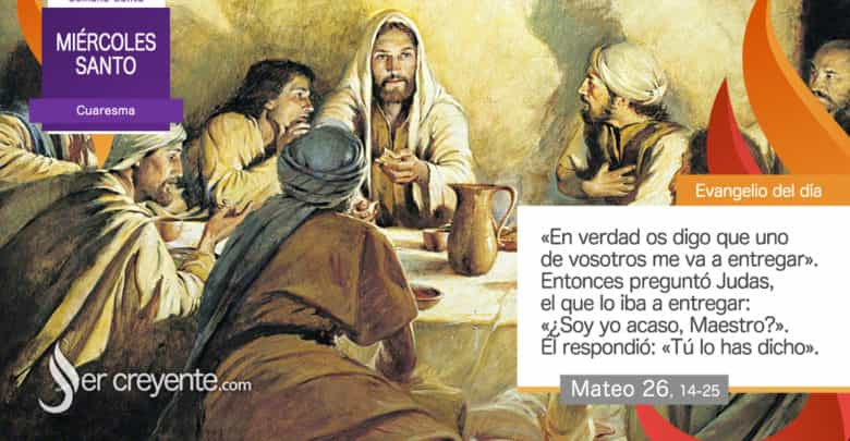 Photo of #EvangelioDelDia – 8 abril 2020 (Miércoles Santo)