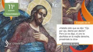 """Photo of Evangelio del día 14 junio 2021 (""""Si uno te abofetea en la mejilla derecha, preséntale la otra"""")"""