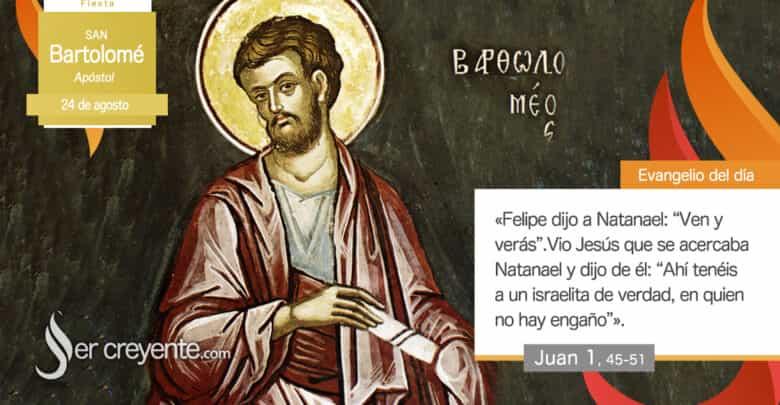 Photo of #EvangelioDelDia – 24 agosto 2020 (San Bartolomé, apóstol)