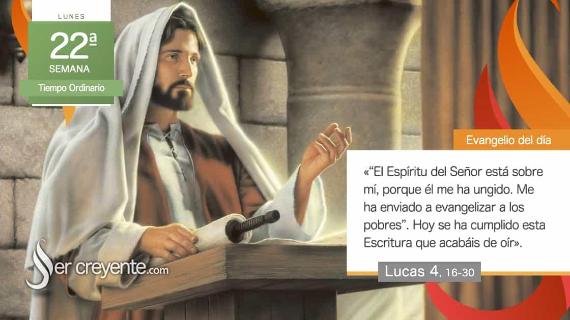 lunes xxii 22 tiempo ordinario El Espíritu del Señor está sobre mí