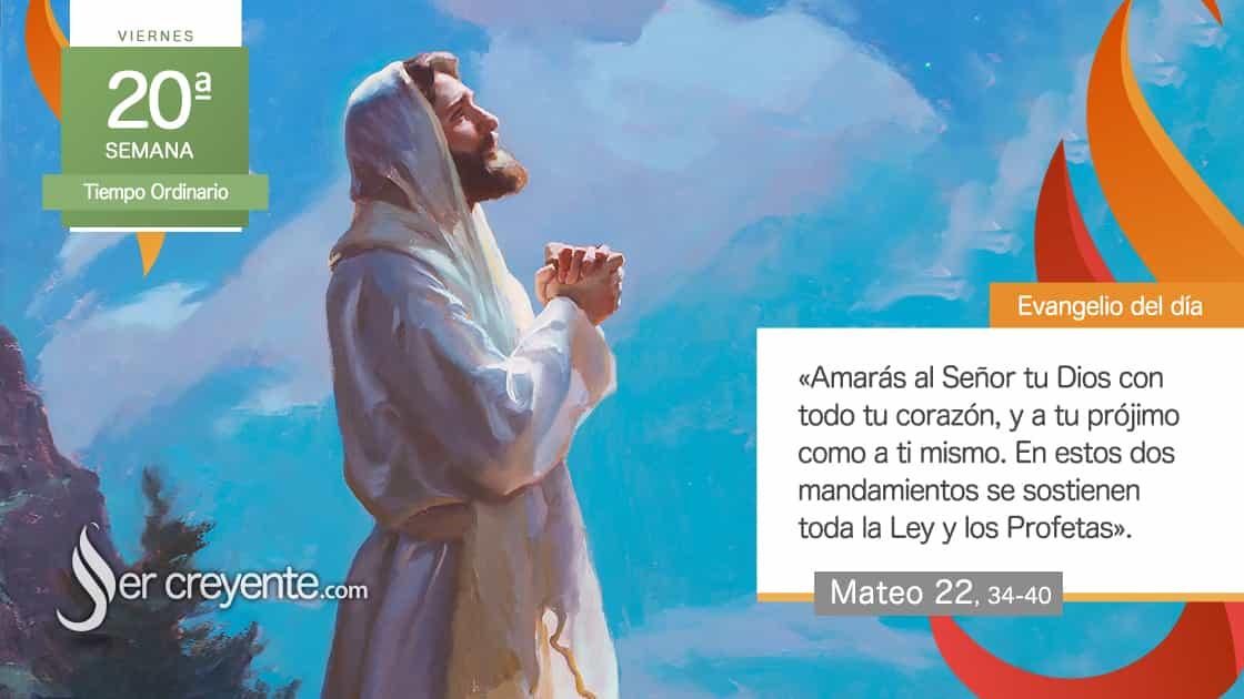 viernes xx 20 tiempo ordinario amaras al señor tu dios y a tu projimo como a ti mismo