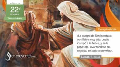 """Photo of Evangelio del día 1 septiembre 2021 (""""Levantándose, se puso a servirles"""")"""