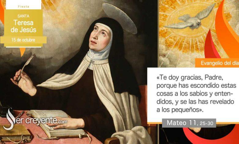 Photo of Evangelio del día 15 octubre 2020 (Santa Teresa de Jesús)