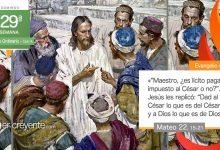 """Photo of Evangelio del día 18 octubre 2020 (""""Dad al César lo que es del César y a Dios lo que es de Dios"""")"""