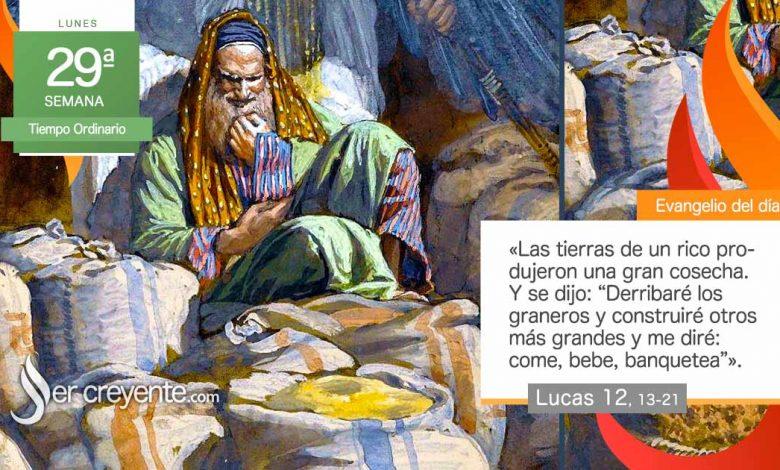 """Photo of Evangelio del día 19 octubre 2020 (""""La vida no depende de los bienes"""")"""