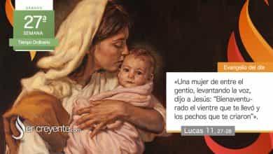 """Photo of Evangelio del día 9 octubre 2021 (""""Bienaventurado el vientre que te llevó"""")"""