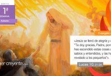 """Photo of Evangelio del día 1 diciembre 2020 (""""Se llenó Jesús de alegría en el Espíritu Santo"""")"""