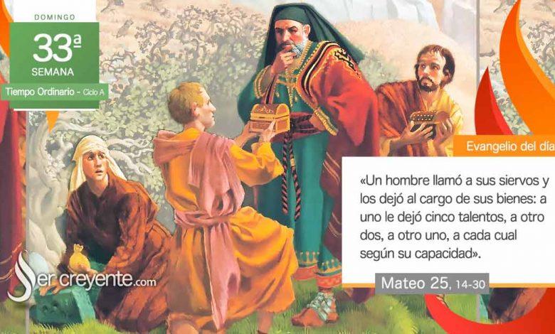 """Photo of Evangelio del día 15 noviembre 2020 (""""A uno le dejó cinco talentos, a otro dos, a otro uno"""")"""
