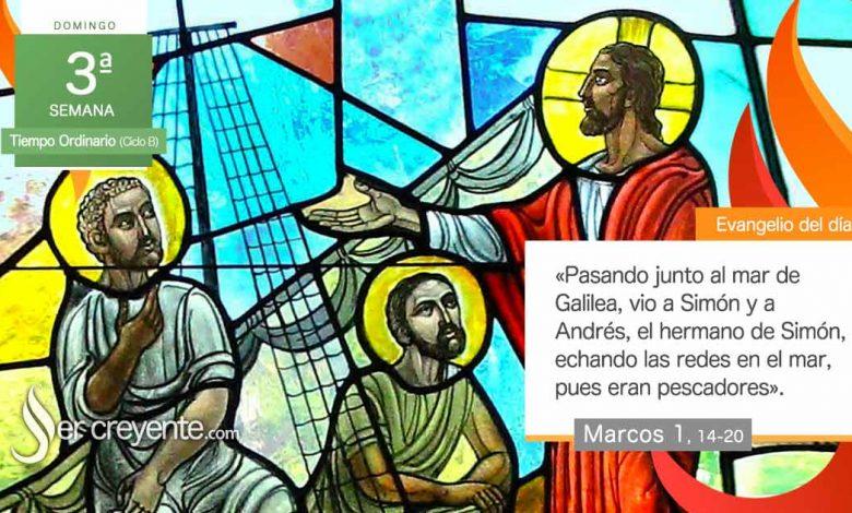 """Photo of Evangelio del día 24 enero 2021 (""""Venid en pos de mí"""")"""