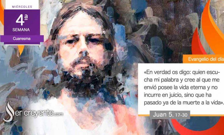 """Photo of Evangelio del día 17 marzo 2021 (""""Quien escucha mi palabra posee la vida eterna"""")"""