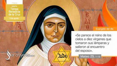 Photo of Evangelio del día 9 agosto 2021 (Santa Teresa Benedicta de la Cruz)