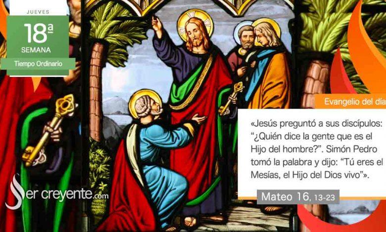 """Photo of Evangelio del día 5 agosto 2021 (""""Y vosotros, ¿quién decís que soy yo?"""")"""